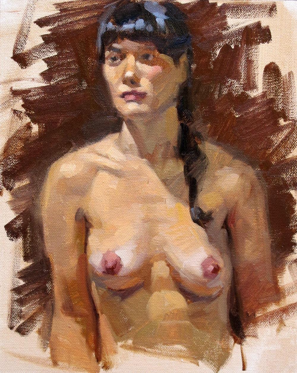 """Miranda"" original fine art by Carol Marine"