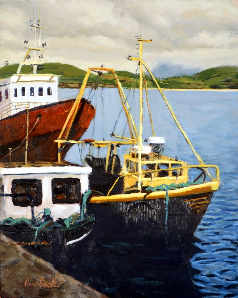 """Boats in Clifden Ireland"" original fine art by Daniel Fishback"