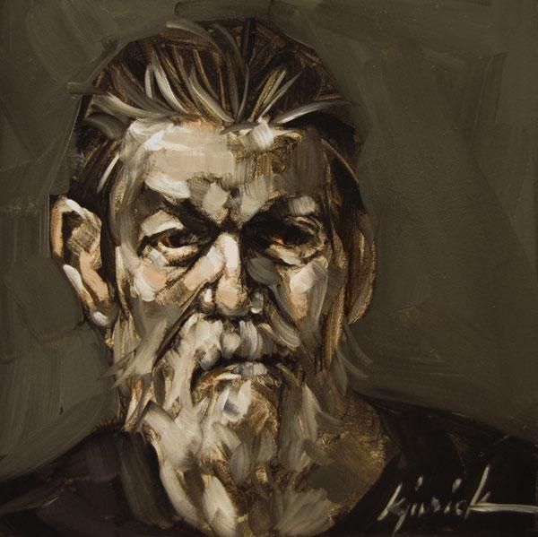 """100 Faces, No. 62"" original fine art by Karin Jurick"