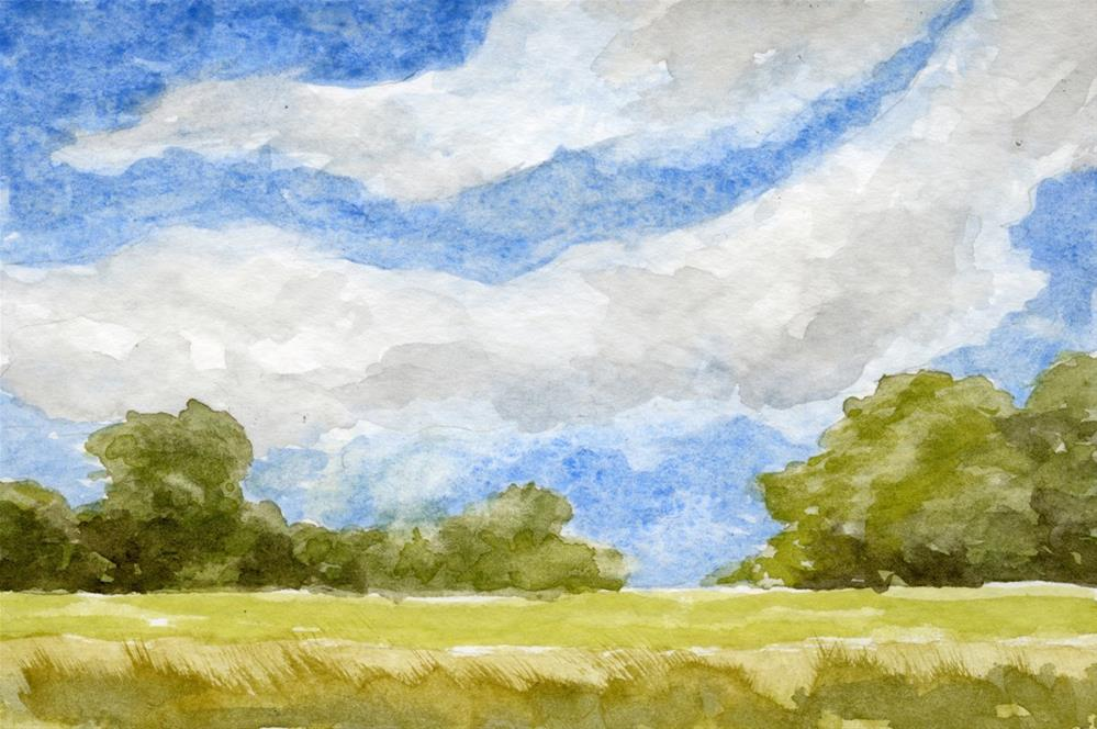 """Summer Field"" original fine art by Eileen Hennemann"