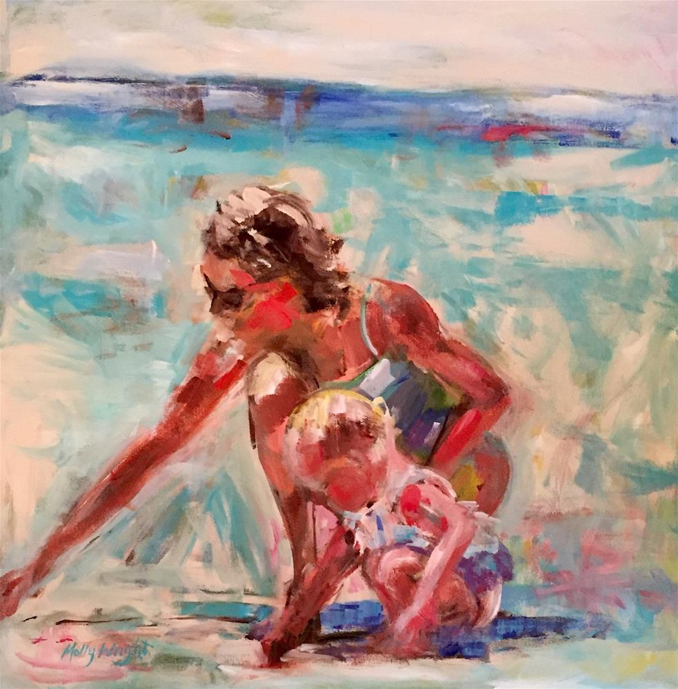 """Shell Seeking"" original fine art by Molly Wright"