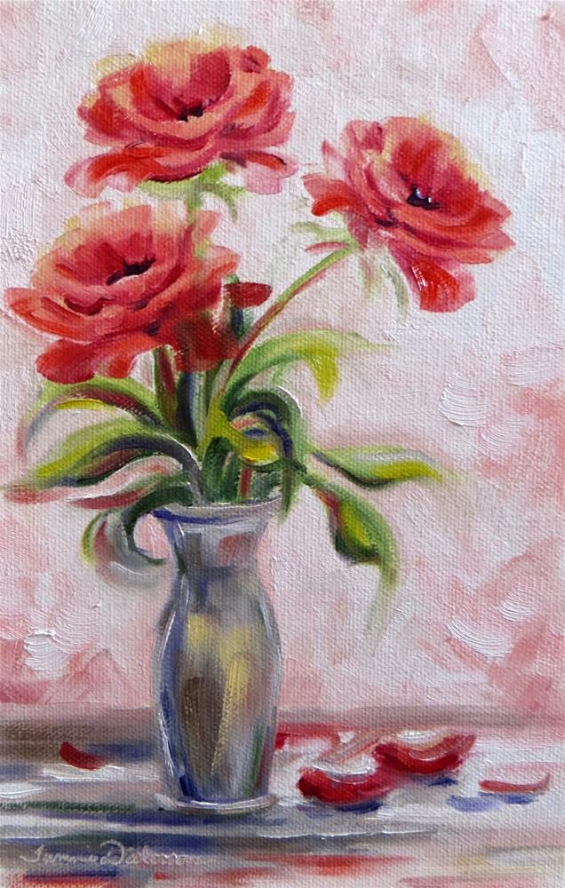 """Red Trio"" original fine art by Tammie Dickerson"