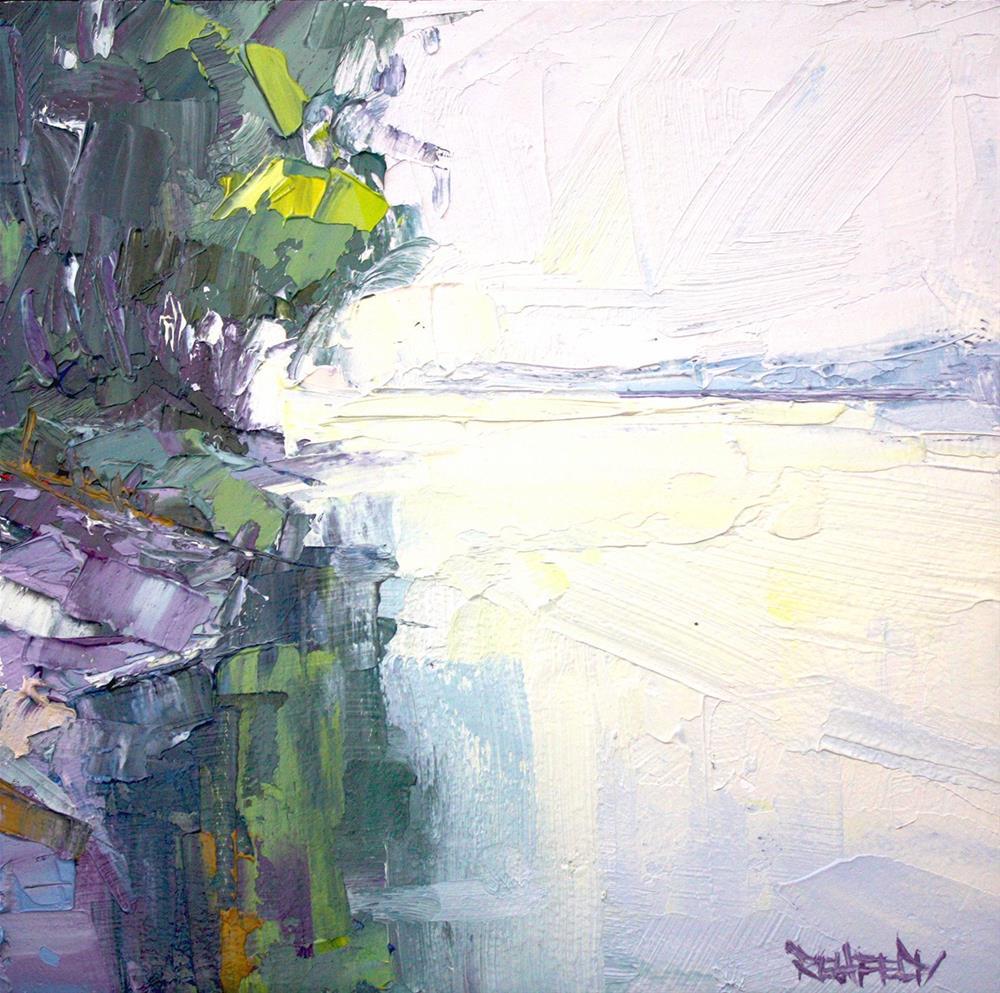 """Sun Through the Trees"" original fine art by Cathleen Rehfeld"