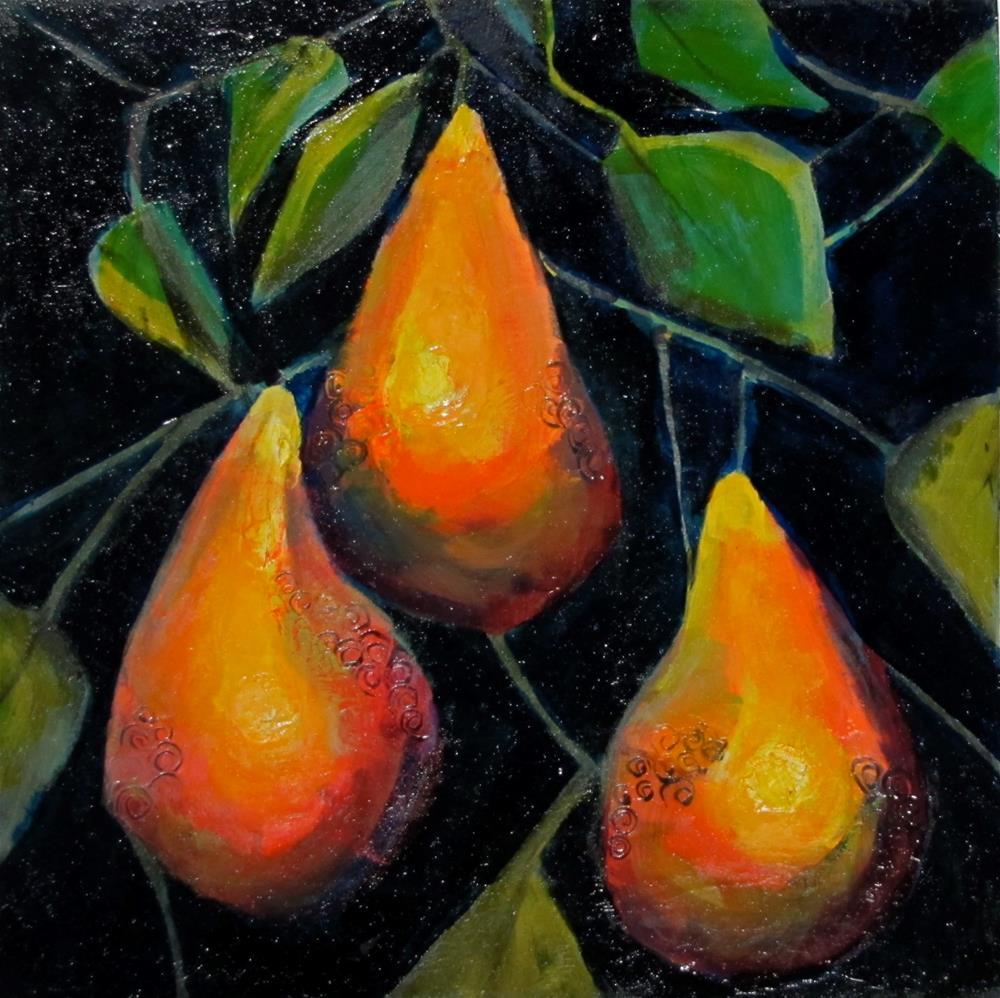 """3 Pear"" original fine art by Christine Holzschuh"