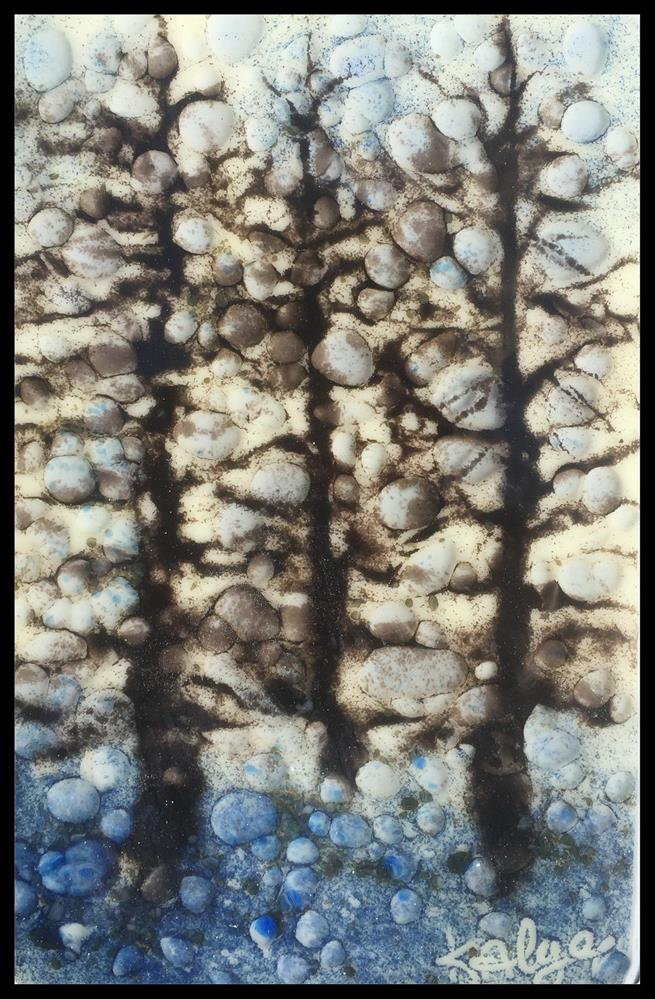 """Aventurine Pines"" original fine art by Kelly Alge"