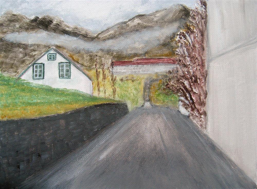 """Morning in Hvanneyri"" original fine art by Alina Frent"