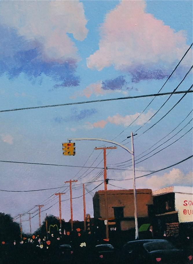"""""""DOWNTOWN"""" original fine art by Gerald Schwartz"""