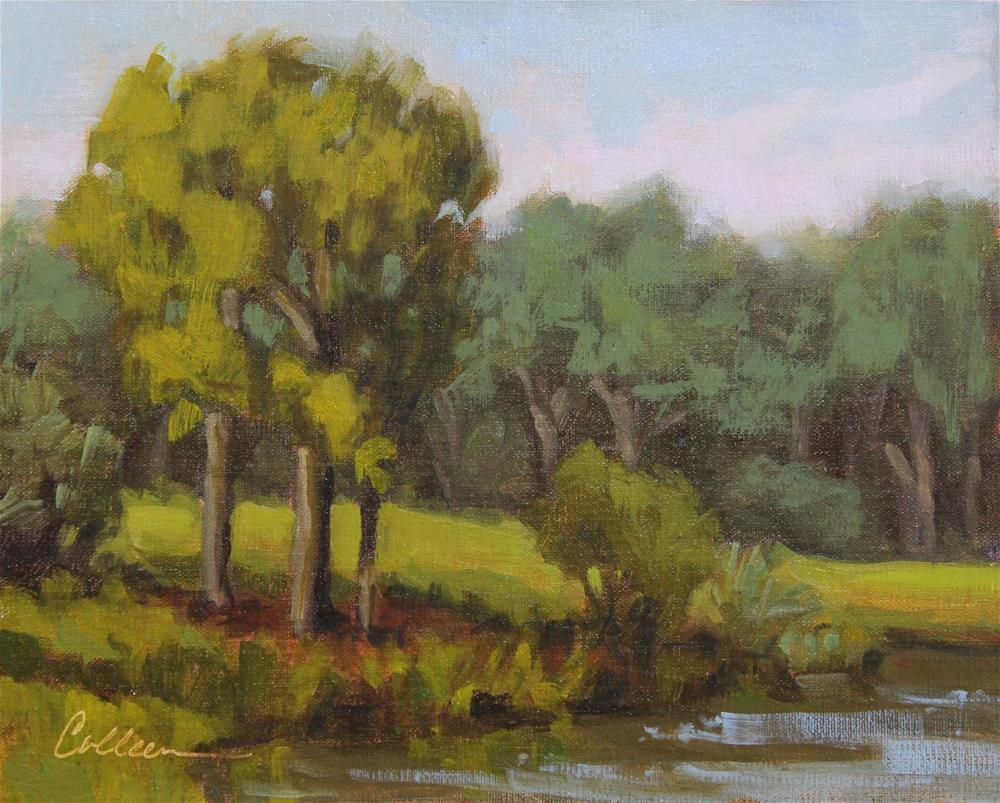 """On the River Course"" original fine art by Colleen Parker"
