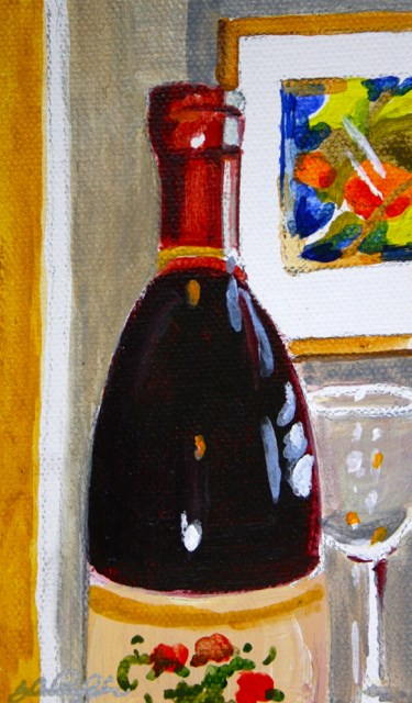 """Wine with Dinner"" original fine art by JoAnne Perez Robinson"