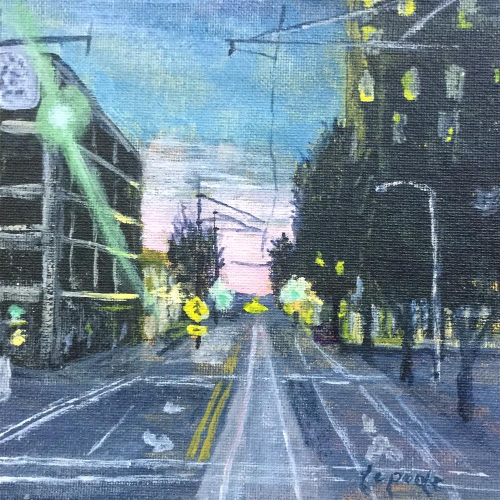 """7th and Holliday"" original fine art by T.C. Poole"
