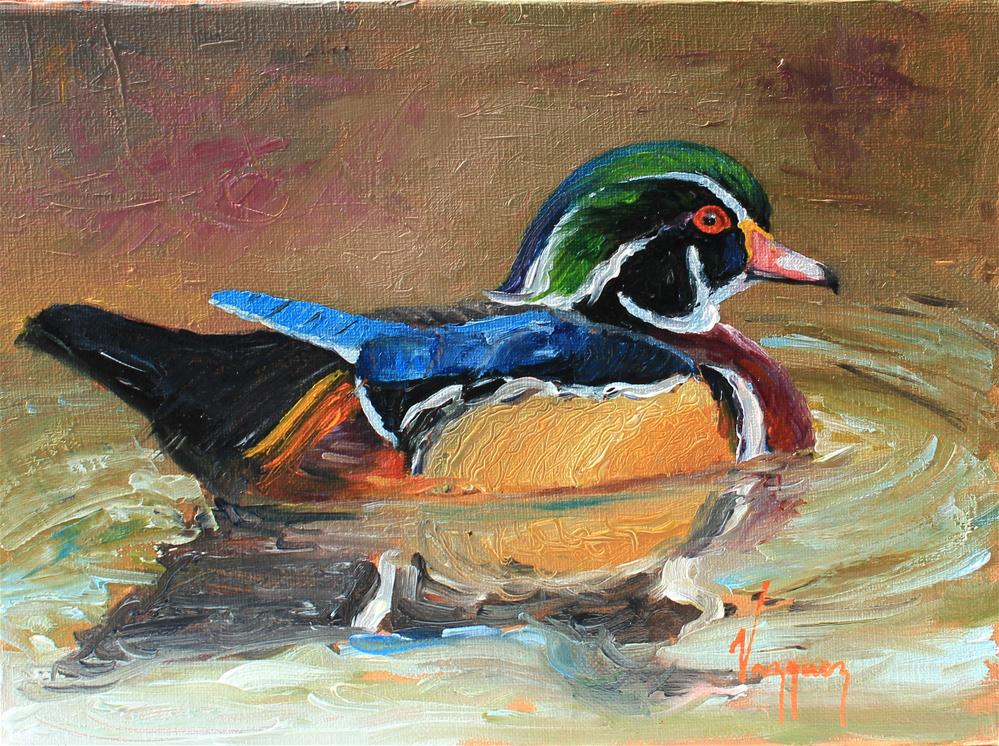 """Wood duck"" original fine art by Marco Vazquez"