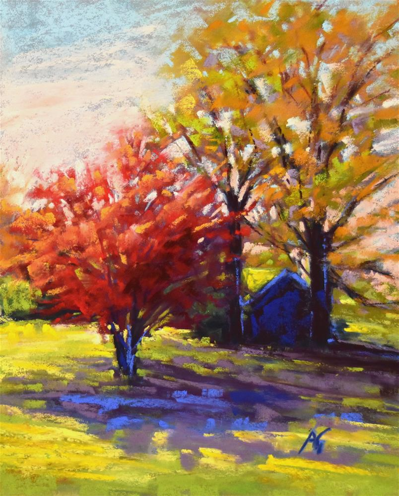 """Afternoon shade"" original fine art by Alejandra Gos"