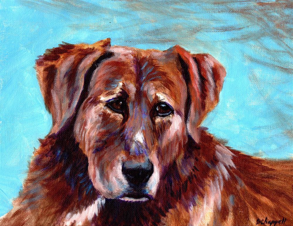 """""""Cedar"""" original fine art by Becky Chappell"""