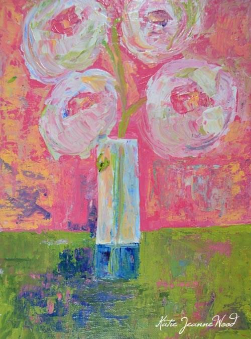 """Floral No 269"" original fine art by Katie Jeanne Wood"