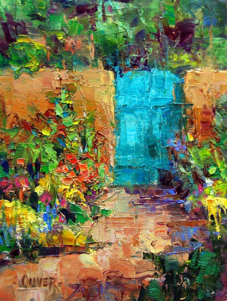 """""""Albuquerque Garden Gate"""" original fine art by Julie Ford Oliver"""