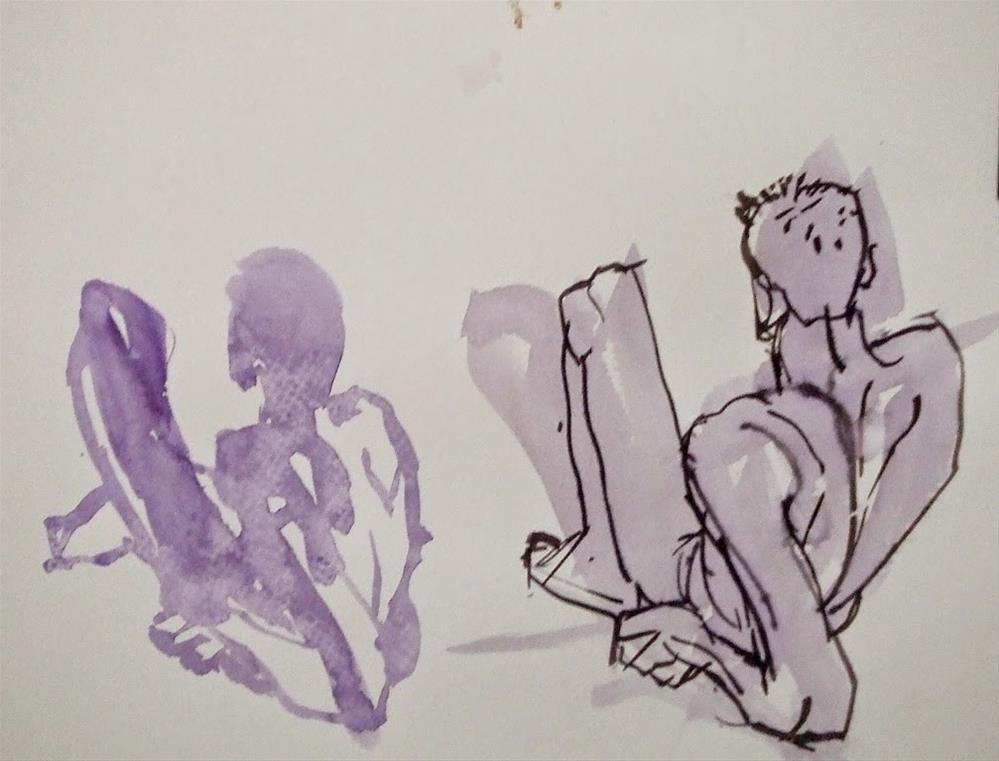 """""""J-F"""" original fine art by Mitsuru Cope"""