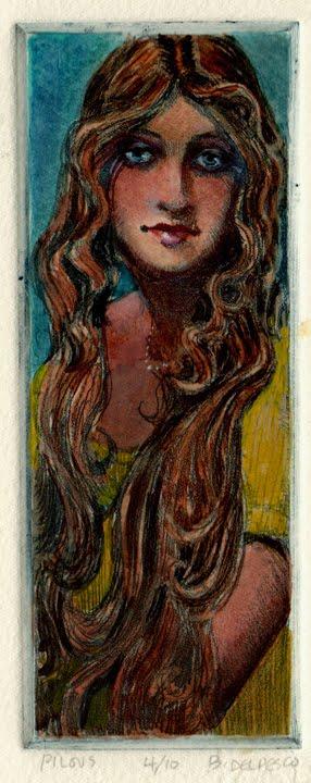 """""""Etching: Pilous"""" original fine art by Belinda Del Pesco"""