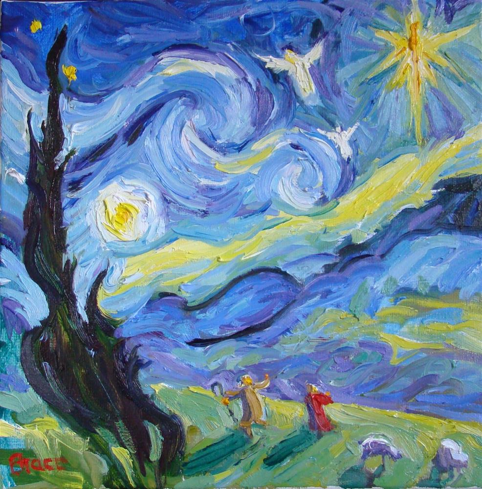 """Van Gogh And The Shepherds"" original fine art by Rita Brace"