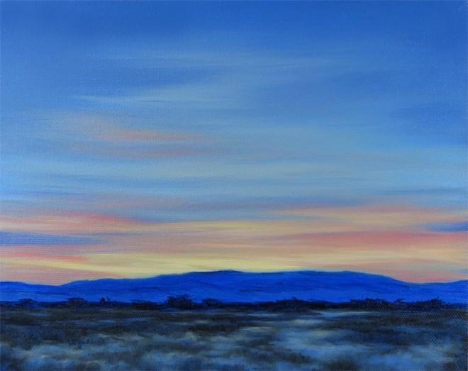 """""""Sunrise Blue"""" original fine art by Carol Zirkle"""