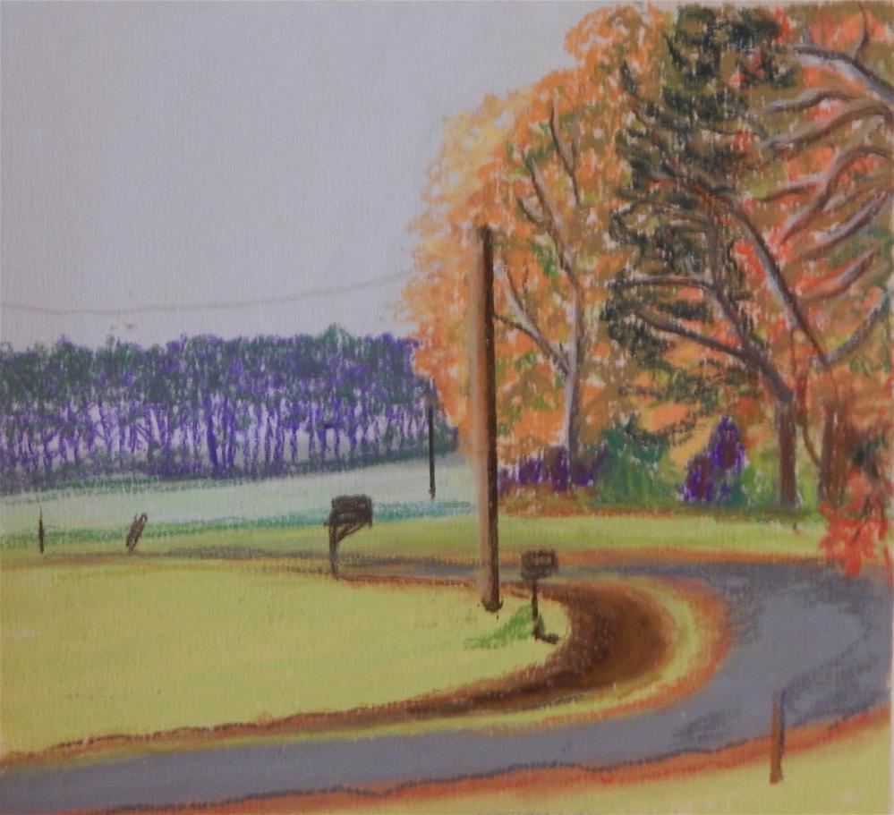"""Just Around the Corner"" original fine art by Elaine Shortall"
