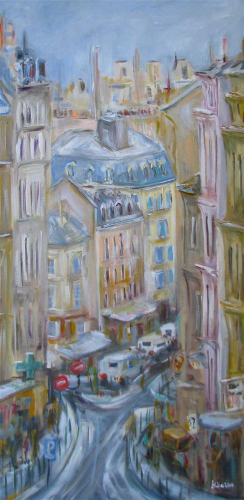 """Paris Street"" original fine art by Alina Vidulescu"