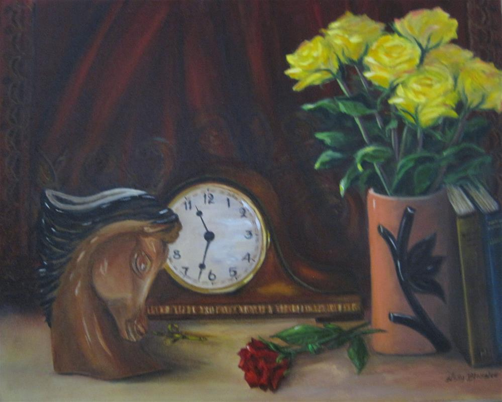 """Grandma's Clock"" original fine art by Sissy Blakslee"
