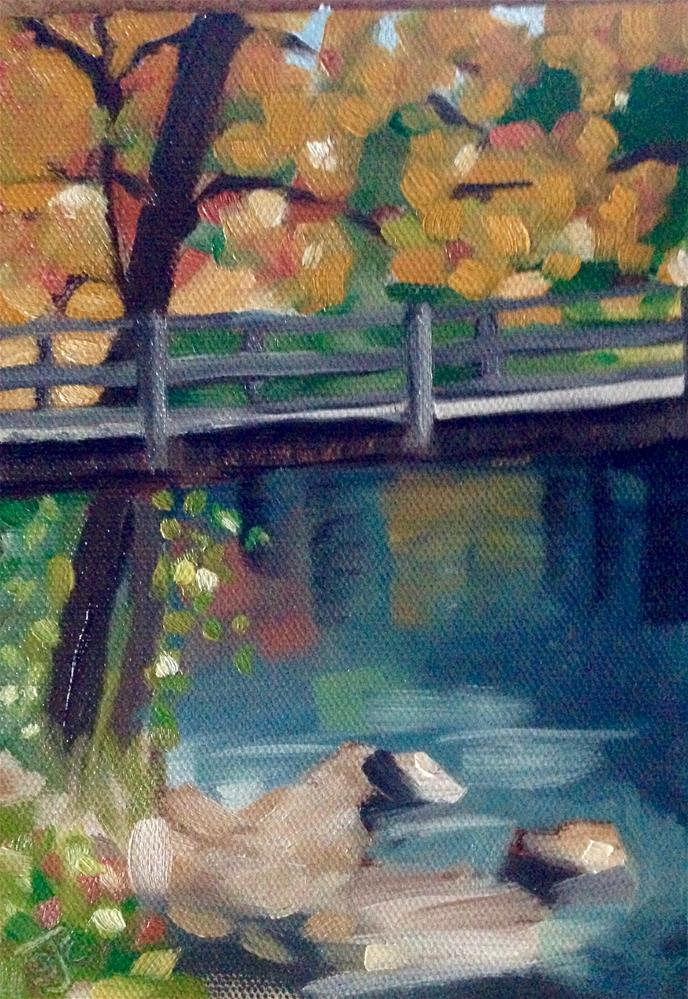 """October in Georgia"" original fine art by Bobbie Cook"