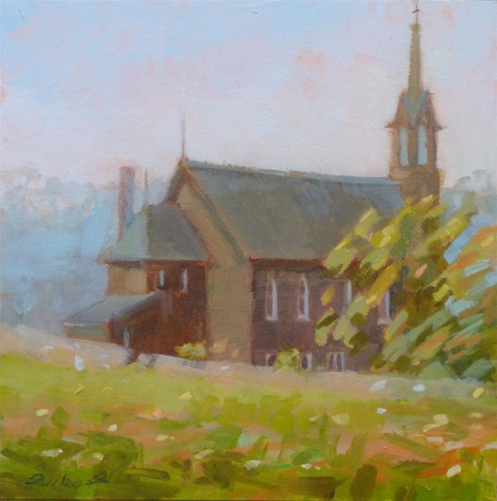 """""""Clover Bottom Church"""" original fine art by Ron Ferkol"""
