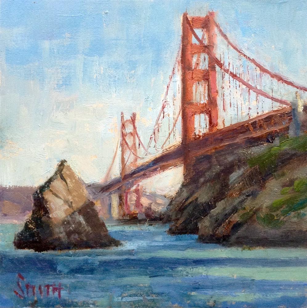 """Golden Gate Study"" original fine art by Barbie Smith"