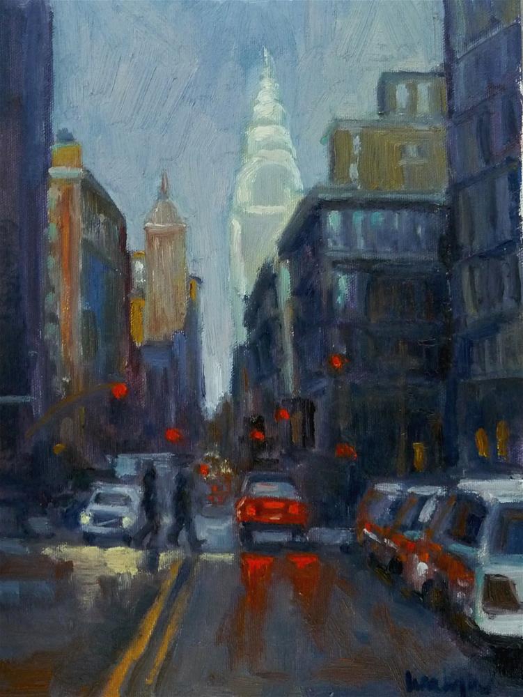 """Chrysler Building in the Distance"" original fine art by Lisa Kyle"