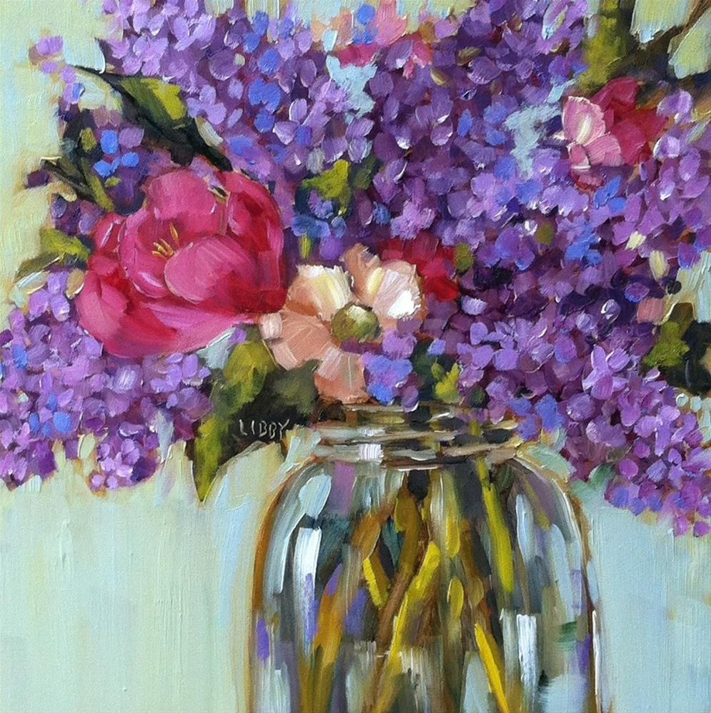"""Lilac Party"" original fine art by Libby Anderson"