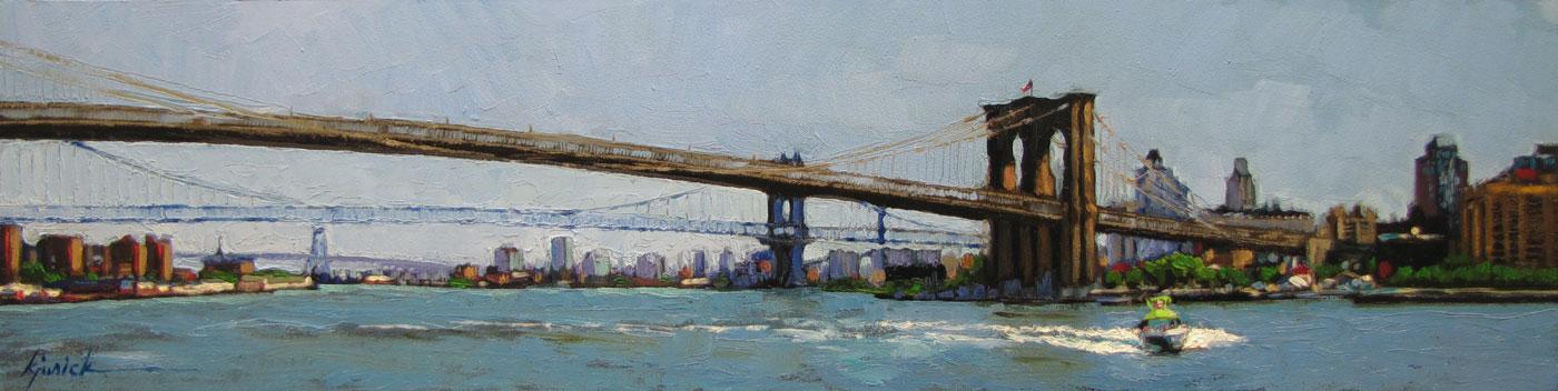 """Four Ways to Brooklyn"" original fine art by Karin Jurick"