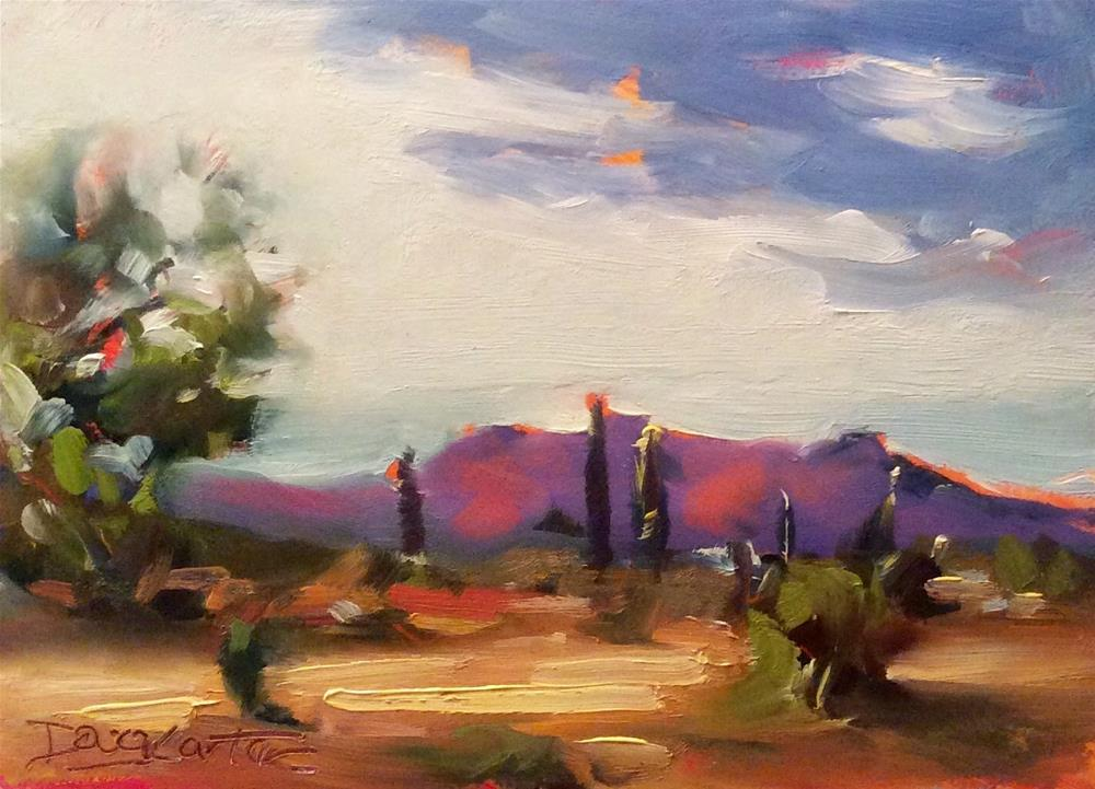 """ Red Hills "" original fine art by Doug Carter"