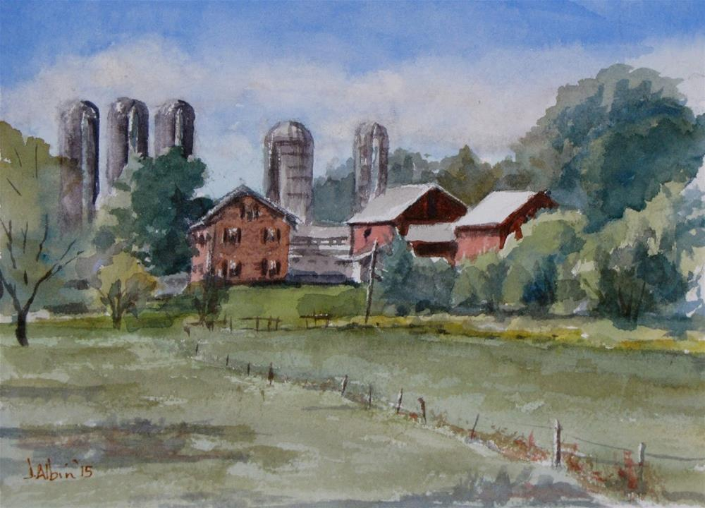 """Farm Near Reiff's Greenhouse"" original fine art by Jane Albin"