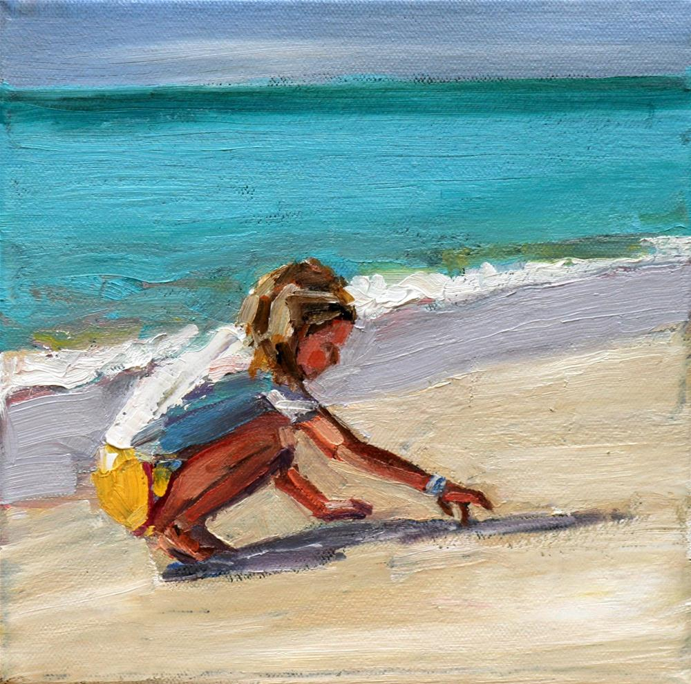 """sand scribe"" original fine art by Carol Carmichael"