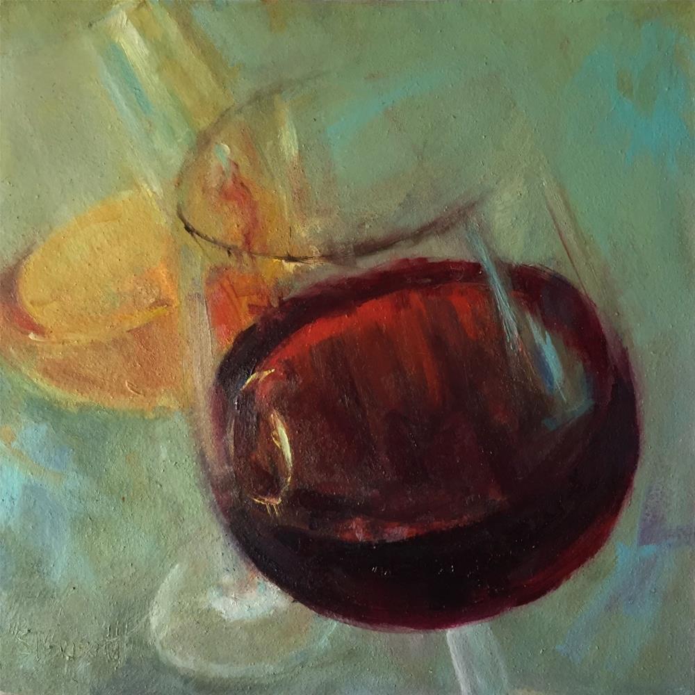 """Burgundy and Chardonnay"" original fine art by Sherri Burritt"