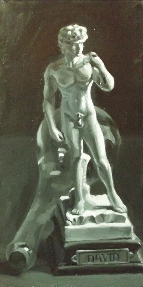 """David and Bottle"" original fine art by Karen Boe"