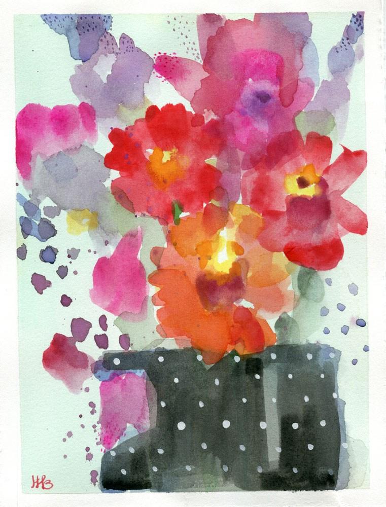 """Color Riot"" original fine art by Heather Bennett"