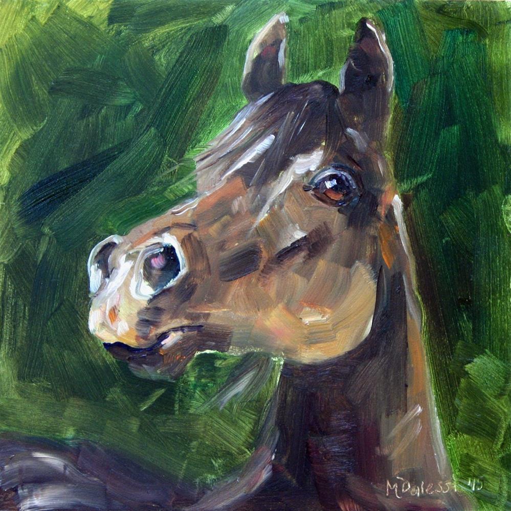 """The brown horse"" original fine art by Miranda Dalessi"