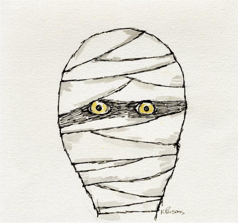 """Mummy's Watching"" original fine art by Kali Parsons"