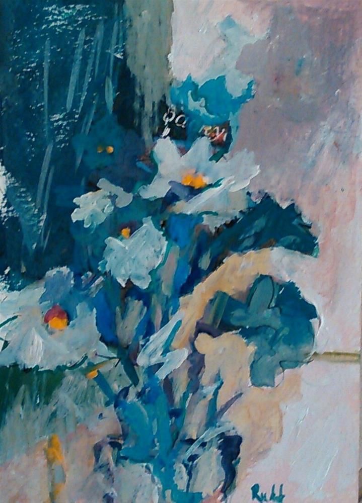 """Daisies Impromptu"" original fine art by Ann Rudd"