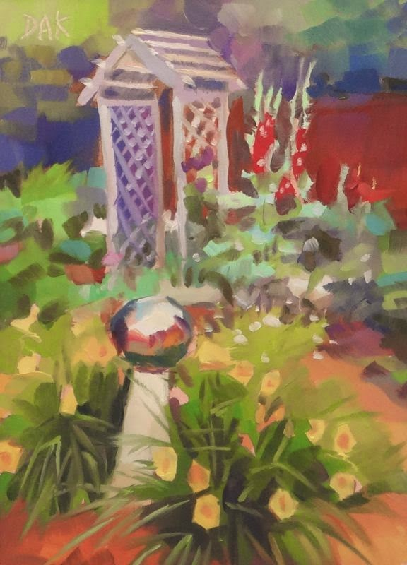 """Garden Arbor"" original fine art by Deborah Ann Kirkeeide"