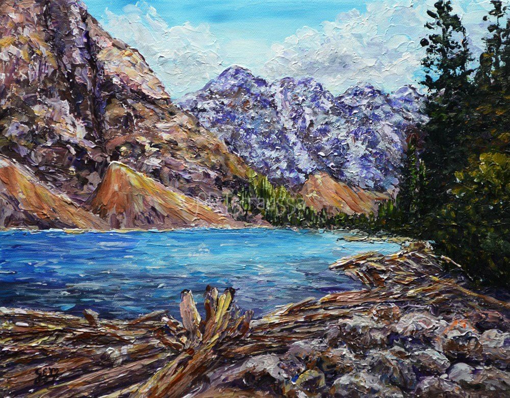 """Moraine Lake"" original fine art by Gloria Ester"