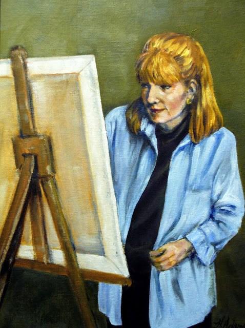 """Self-Portrait"" original fine art by Helene Adamson"