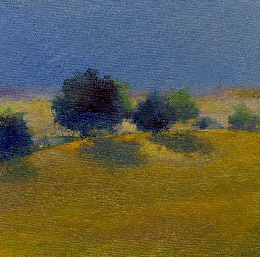 """hill"" original fine art by V. DeBak"