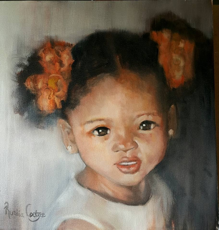 """Garden fairy"" original fine art by Rentia Coetzee"