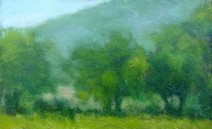 """Provencal Tree Study"" original fine art by Bobbi Heath"