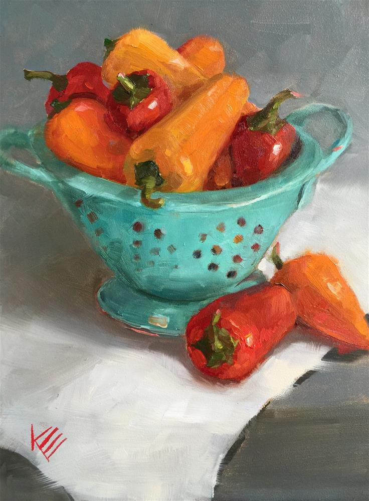 """Sweet Peppers"" original fine art by Krista Eaton"