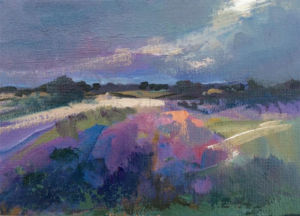 """""""Meadow"""" original fine art by Anne Wood"""