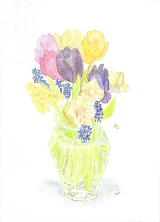 """Tulips"" original fine art by Laura Denning"